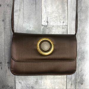 SANREMO Italy Vintage Satin Crossbody Bag Milano Italy